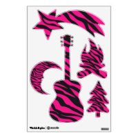 Pink Zebra Wall Decals & Wall Stickers | Zazzle
