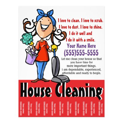 Housekeeping House Window Cleaning Business Flyer Zazzle - house cleaning flyer