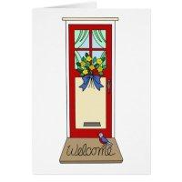 House Front Door Welcome Mat Card | Zazzle