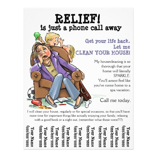 Housecleaning flyer (fully customizable) Zazzle