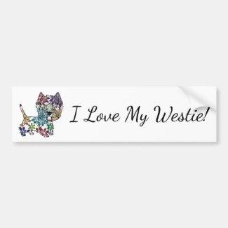 I Love My Westie - Bumper Sticker