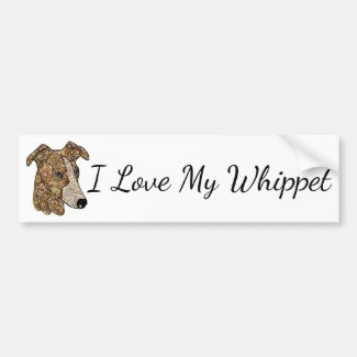 I Love My Whippet Bumper Sticker
