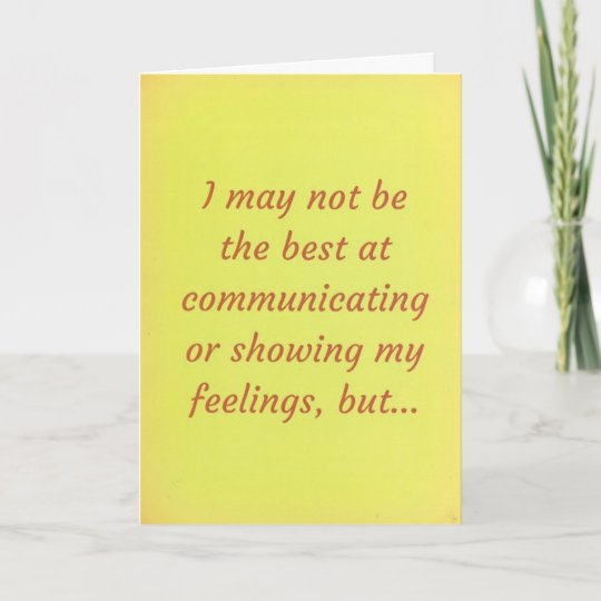 I Love You! Relationship Apology Message Card Zazzle