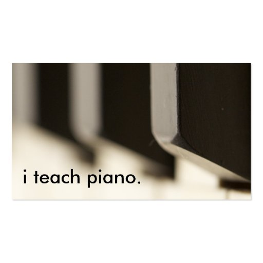 Pianist Business Cards - Page11 BizCardStudio