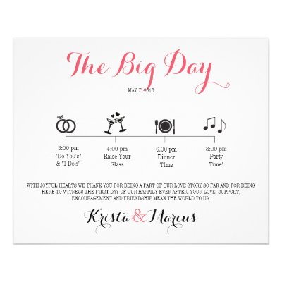 Icon Wedding Itinerary - Destination Wedding Flyer Zazzle - wedding flyer