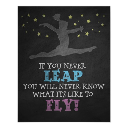 Football Coach Quote Wallpaper If You Never Leap Inspirational Gymnastics Quote Poster