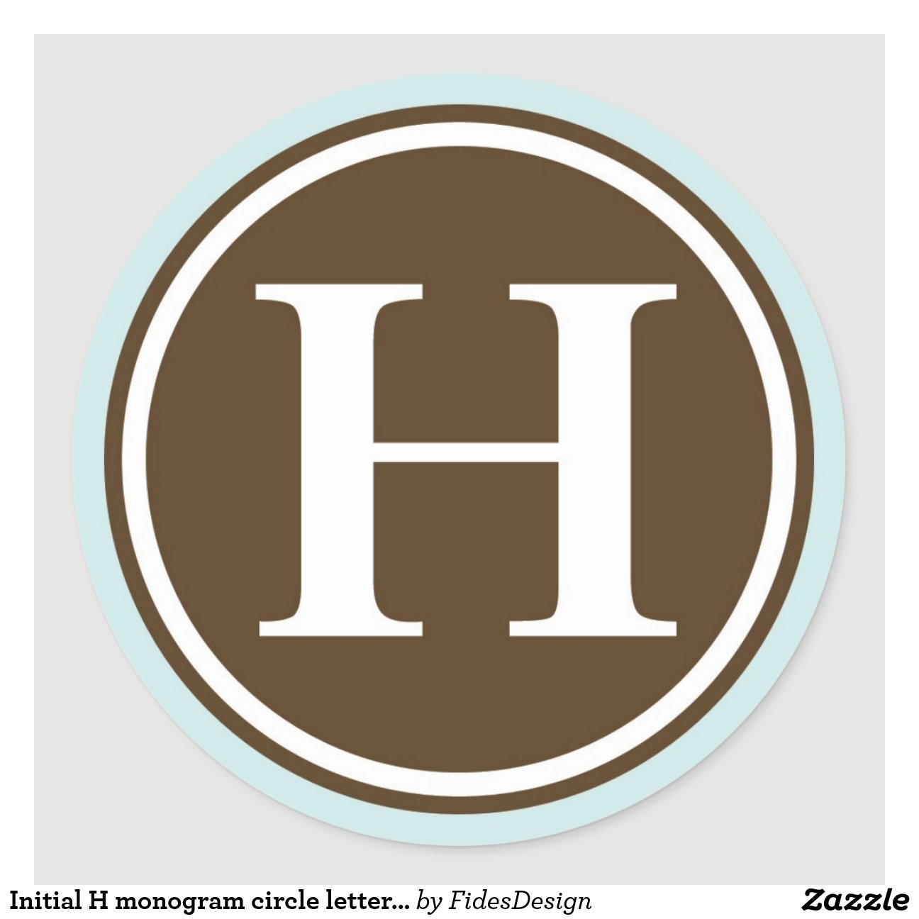 initial s monogram circle letter seal party favor classic round sticker