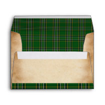Irish National Tartan A-7 Wedding Envelope