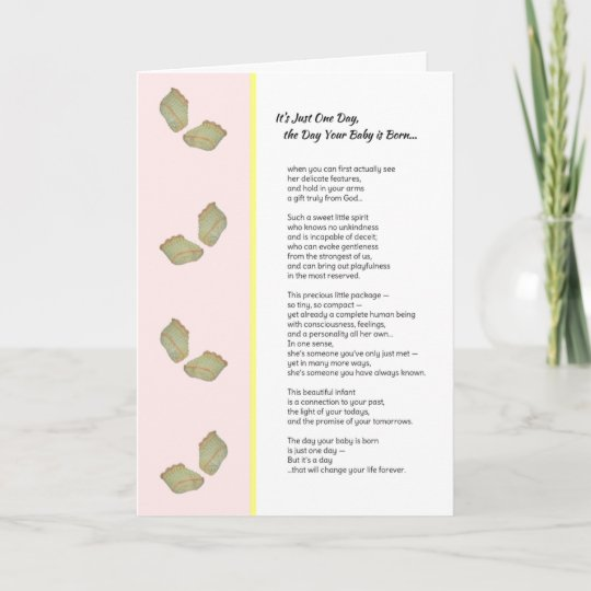 It\u0027s Just One DayNew baby girl Announcement Zazzle