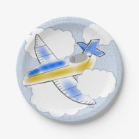 Airplane Paper Plates | Zazzle