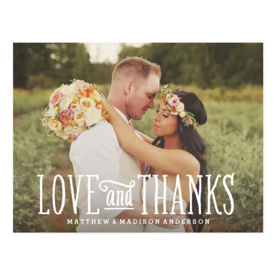 Just Married | Wedding Thank You Postcard