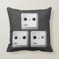 Kawaii Ctrl Alt Del Keyboard - Reboot Pillows   Zazzle
