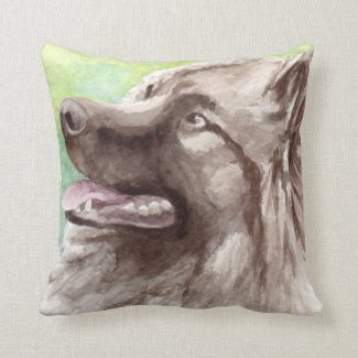 Keeshond Gifts Throw Pillows