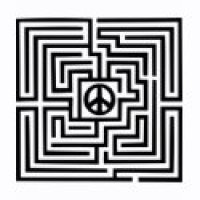 Maze Puzzle Geeks T-Shirts & Gifts - Peace