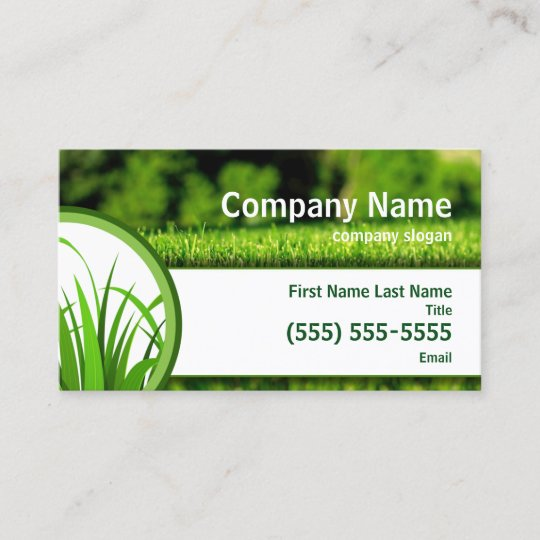 Lawn Care Business Card Zazzle