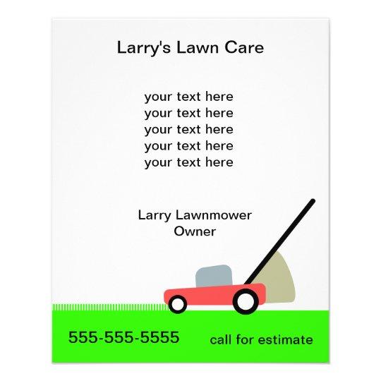 Lawn Care Services Flyer Zazzle - lawn services flyer