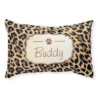 Leopard Print - Stylish Custom Dog Monogram Name Dog Bed ...