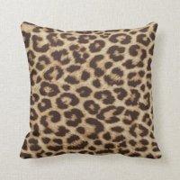 Leopard Print Throw Pillow | Zazzle