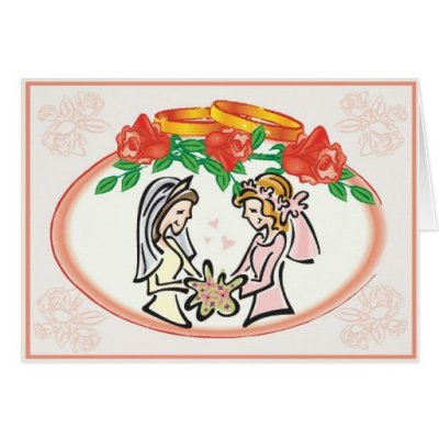 Lesbian Wedding or Commitment Ceremony Card | Zazzle