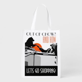 LETS GO SHOPPING heARTdeco chow- Market Tote