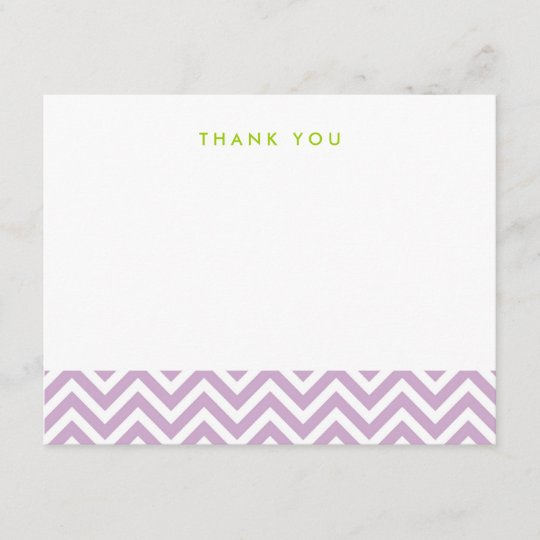 Lilac Purple Simple Chevron Thank You Note Cards Zazzle