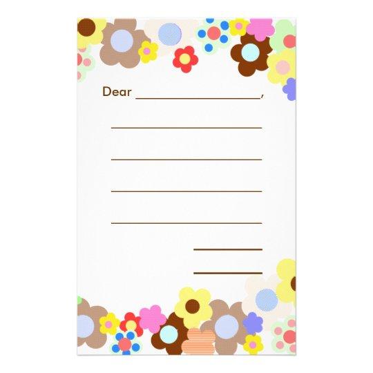 Lined Blank Kids Note Paper Zazzle