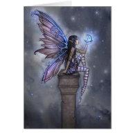 Little Blue Moon Fairy Greeting Card