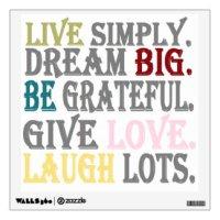 Dream Big Wall Decals & Wall Stickers | Zazzle