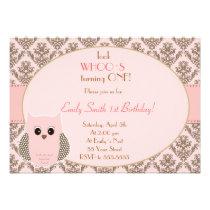 Look Whos Owl Birthday Baby Shower Invitation