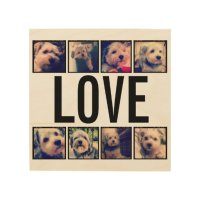 Love - Custom Collage with 8 Instagram Photos Wood Wall ...