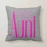 Loving Words for Aunt Throw Pillow | Zazzle
