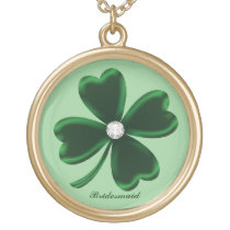 Lucky Four Leaf Clover Bridesmaid Necklace
