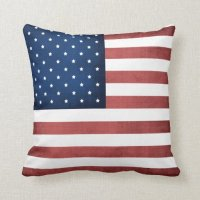 Made In America American Flag Throw Pillow | Zazzle