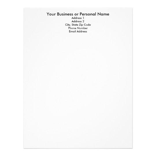 Make your own letterhead, letterhead template Zazzle