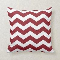 Maroon Chevron Pattern Throw Pillows Throw Pillow   Zazzle