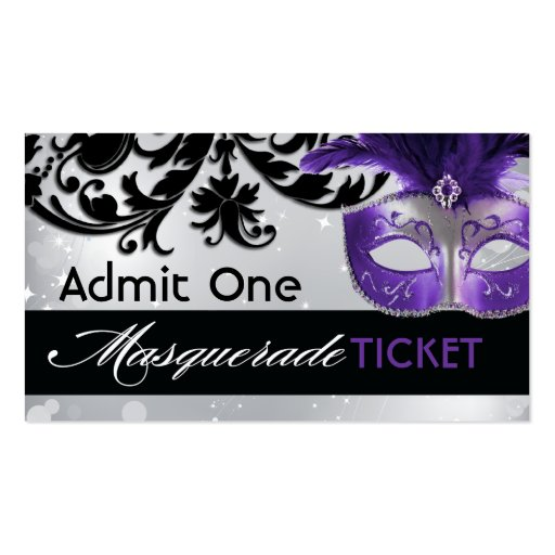 masquerade prom ticket template - Ball Ticket Template