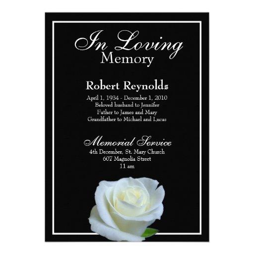 Personalized Remembrance service Invitations CustomInvitations4U - memorial service invitation template
