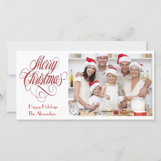 Merry Christmas Photo Card Template Insert Picture Zazzle