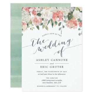 Watercolor Wedding Invitations Announcements Zazzle