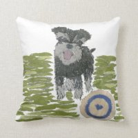 Miniature Schnauzer Puppy Pillow | Zazzle