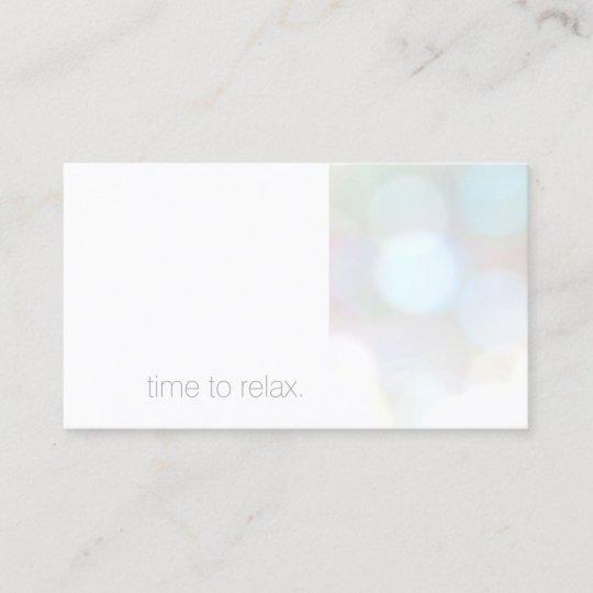Minimalist Subtle Bokeh Spa Appointment Card Zazzle