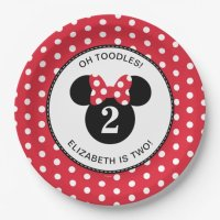 Minnie Mouse | Red & White Polka Dot Birthday Paper Plate ...