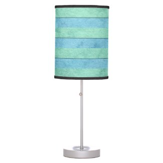 Mint Green and Turquoise Watercolor Art Stripes Table Lamps