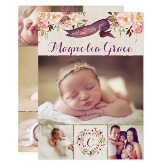 girl birth announcement - Goalgoodwinmetals - Baby Girl Birth Announcements