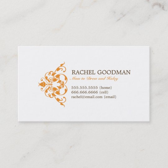 Modern Floral Mommy Card / Personal Calling Card Zazzle