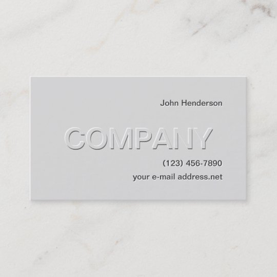 Modern Grey Embossed Business Card Zazzle