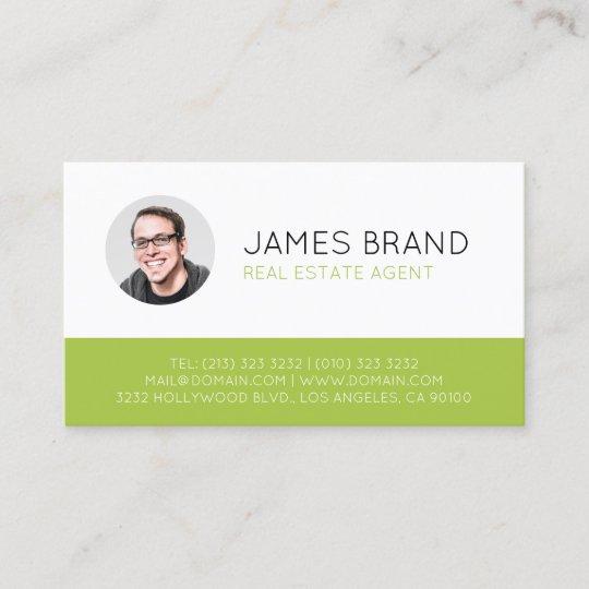 Modern Photo Real Estate Business Card Zazzle