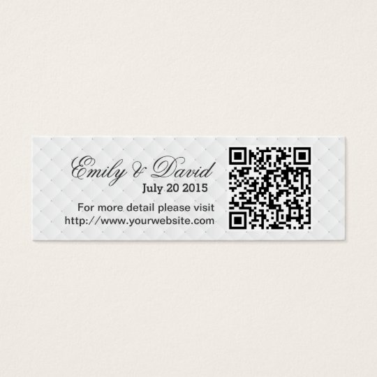 Modern QR Code Wedding Website Insert Card Zazzle