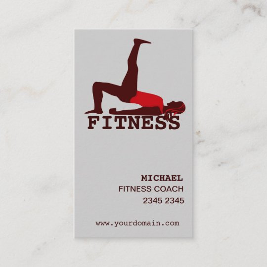 Modern Woman Practicing Yoga Abs Workout Appointment Card Zazzle