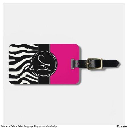 Zebra Print Luggage Tags